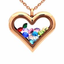 Модные сердце формы фото внутри медальон кулон ювелирные изделия