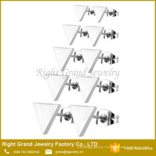 Customzied Size 316L Surgical Stainless Steel Triangle Shaped Earring studs