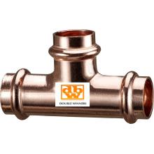 Kupfer-V-Profil-T-Stück - Reduzierte Verzweigung