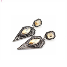 Moda al por mayor triángulo modelo geométrico españa 925 pendientes de plata joyería