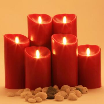 red luminara candle