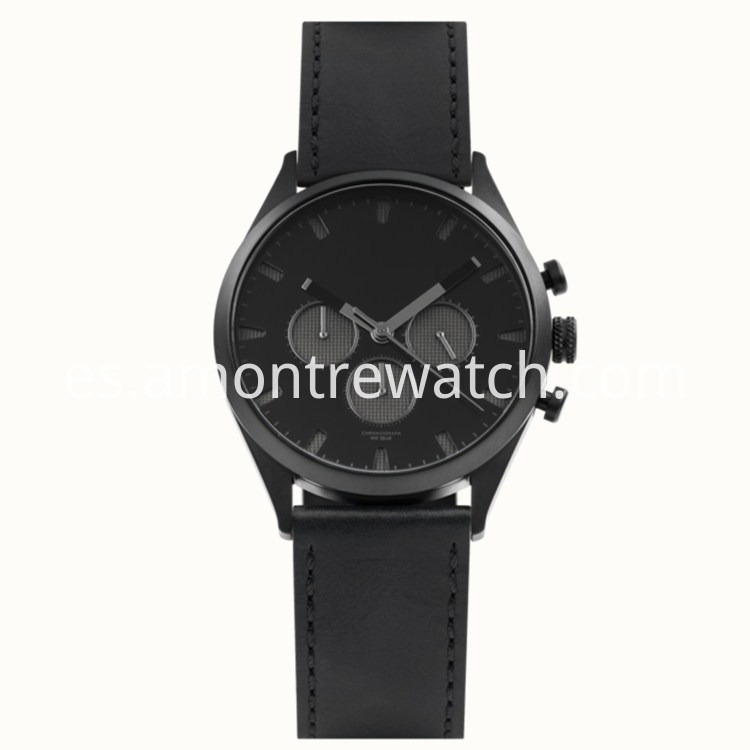 Black Steel Man Watch