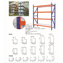 New Middle Duty Warehouse Tire Storage Pipe Metal Rack System with 300~800kg Capacity Yuanda