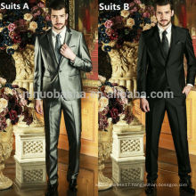 Top Quality 2014 Latest Design Men's Wedding Suits Solid Color One Button Three Pockets Men's Business Suits NB0586
