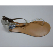 women's sandals with the fashion accessories made by TPR materials outsole and PU insole