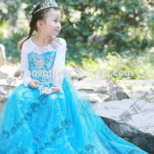 fairytale princess blue tulle maxi toddler dress