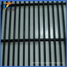 PVC revestido 12,7 * 76,2 milímetros malha Anti-Climb Security Fence