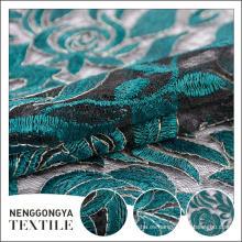 Tela del bordado del cordón químico soluble en agua de la moda del diseñador del OEM oem