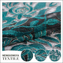 Custom oem Designer fashion water soluble chemical lace embroidery fabric