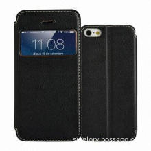 Leather Case for iPhone 5 with Stand Function, Various Colors Available