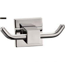 Wall Mounted Robe Hook with Double Hook for Bathroom Accessories