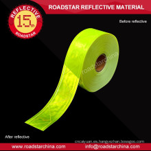 Micro-prismático cinta reflexiva del PVC para la elección de calidad de ropa