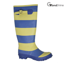 Wellie Rainboot avec rayure colorée
