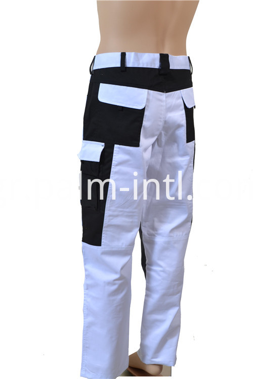 Polyester/Cotton White/Black Trousers