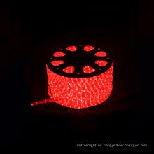Beatufull luz de la calle de la cuerda led luz redonda 2 hilos rojo