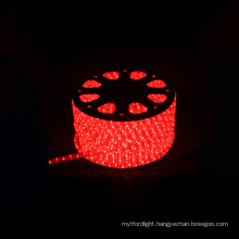 beatufull street light from led rope light round 2 wires red