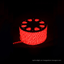 Beatufull luz da rua da corda led luz rodada 2 fios vermelho