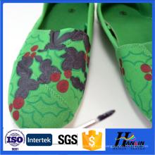 Impresso algodão lona sapatos tecidos