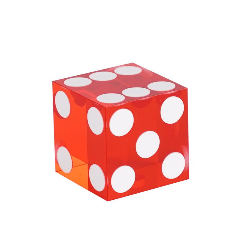 Red 19mm Precision Casino Dice