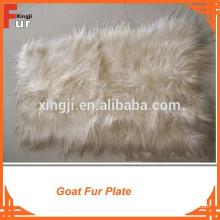 Plaque de fourrure de chèvre cheveux raides