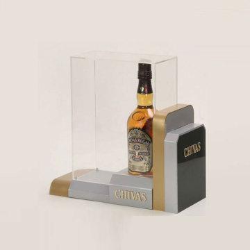 Caixa de exposição acrílica personalizada por atacado do vinho