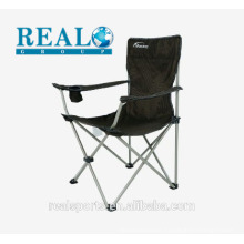 High sales outdoor furniture folding garden arm chair metal single camping chair wholesale