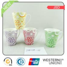 Caneca de cerâmica / porcelana com design de café