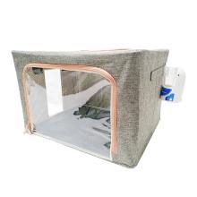 Dog Nebulization Usable Oxygen Dome Cat Inhaler Animal ICU Chamber Flax Anti Scratch Folding inhalator Nebulizer Box Pet