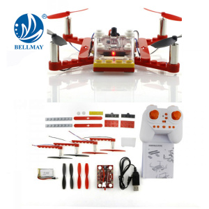 2.4GHz Wireless Remote Control 6 -axis Gyroscope DIY Drone for School Technology Education