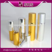 Chine Fabricant de récipient cosmétique 15ml 30ml 50ml 80ml bouteille en aluminium doré