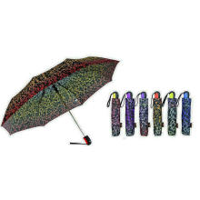 Ornament Print Foldable Quality Automatic Umbrellas (YS-3FA22083964R)