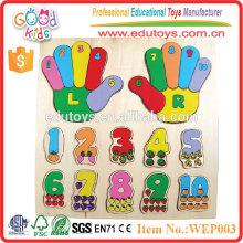 2015 nueva venta caliente hechos a mano niños juguetes de madera juego de rompecabezas