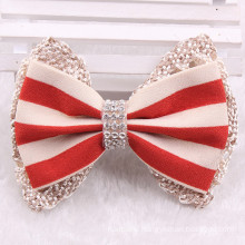 Stripe Fabric Bowknot Hair Clip for Wedding