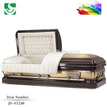 JS-ST248 good quality adult steel caskets factory