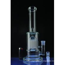 Tubulação de água de vidro fumando do tubo reto de Showerhead Perc (ES-GB-585)