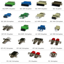Suministro OEM SC FC ST LC Singlemode / Multimodo, Simplex / Duplex, Adaptador de fibra óptica
