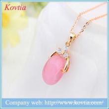 Sex-Spielzeug für Frauen rosa Opal Schmuck Halskette Gold Ketten Halskette Designs