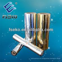 Película metalizada Pet Gold para laminado en caliente (1212G)