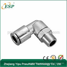 ESP pneumatic push in male female metal brass 3/8 thread elbow air hose swivel fittings