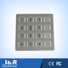 Flache Edelstahl-Telefon-Tastatur, 16 Tasten Telefon-Tastatur, öffentliche Telefon-Tastatur