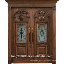 Design de madeira de madeira de luxo, porta de madeira de entrada principal, design de porta de frente
