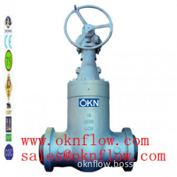 3 A217-C5/WC6/WC9 butt welded gate valve/sales@oknflow.com