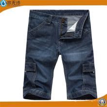 Jeans cortos ocasionales de los hombres de la moda del OEM Bermudas cortos de Jean