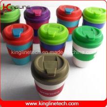 Copo de café de silicone de 250 ml (KL-CP008)