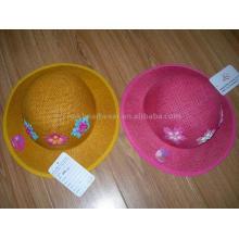Летняя шапка для девочек с цветочным узором