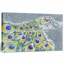 Peacock Womens Canvas Printing / decoração da sala de estar / Arte dropshipping da pintura a óleo