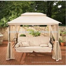 Alta qualidade de luxo de metal gazebo ao ar livre cama cadeira de balanço