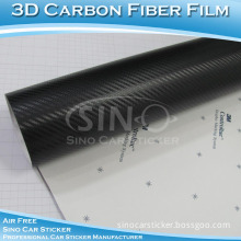 High Quality Air Free Matt Black Carbon Fiber 3D Auto Stickers
