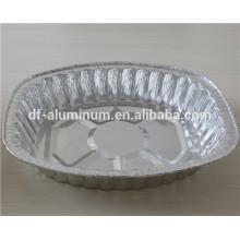Bandeja de assadeira de alumínio para viagem a microondas
