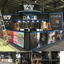 Detian offer expo stands trade show booth portable exhibition display 20 by 20